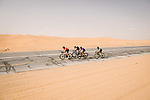 The breakaway during Stage 5 of the Saudi Tour 2020 running 144km from Princess Nourah University to Al Masmak, Saudi Arabia. 8th February 2020. <br /> Picture: ASO/Pauline Ballet   Cyclefile<br /> All photos usage must carry mandatory copyright credit (© Cyclefile   ASO/Pauline Ballet)