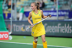 The Hague, Netherlands, June 05: Emily Smith #26 of Australia looks on during the field hockey group match (Women - Group A) between Belgium and Australia on June 5, 2014 during the World Cup 2014 at Kyocera Stadium in The Hague, Netherlands. Final score 2:3 (1:1) (Photo by Dirk Markgraf / www.265-images.com) *** Local caption ***