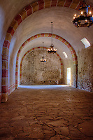 Built c. 1726, the barrel-vaulted granary with flying buttresses at Mission San Hose at the San Antonio Missions National Historic Park.