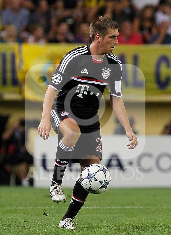 FC Bayern Munchen's Philipp Lahm during UEFA Champions League match.September 14,2011.(ALTERPHOTOS/Acero)