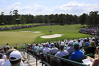 Tiger Woods (USA) on the 17th during the 1st round at the The Masters , Augusta National, Augusta, Georgia, USA. 11/04/2019.<br /> Picture Fran Caffrey / Golffile.ie<br /> <br /> All photo usage must carry mandatory copyright credit (© Golffile | Fran Caffrey)