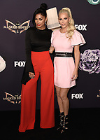 "BEVERLY HILLS  - SEPTEMBER 10:  Nicole Scherzinger and Jenny McCarthy attend the season two premiere event for FOX's ""The Masked Singer"" at The Bazaar at the SLS Beverly Hills on September 10, 2019 in Beverly Hills, California. (Photo by Scott Kirkland/FOX/PictureGroup)"