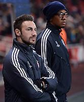 FUSSBALL  CHAMPIONS LEAGUE  ACHTELFINALE  HINSPIEL  2012/2013      FC Arsenal London - FC Bayern Muenchen       19.02.2013 Diego Contento (li) und Jerome Boateng (re, beide Bayern München)