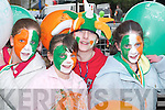 PAINTED FACES: Muire Dineen, Rebecca Kerins, Denise Dunlea and Catherine OConnor from Scartaglen at the Castleisland St Patricks Day Parade on Saturday..