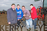 HELPING HAND: Giving Cormac O'Connor ( Causeway)a helping hand at the Abbeydorney Ploughing Competition on Sunday. L-r: Brendan Blackwell (Ardfert), Enda Donegan, Cormac O'Connor and Jamie Donegan.....