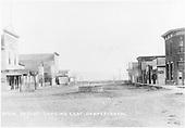 Business buildings on block-long street in Hooper.<br /> D&amp;RG  Hooper, CO