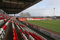 General view looking towards the North Terrace during Stevenage vs Reading, Emirates FA Cup Football at the Lamex Stadium on 6th January 2018