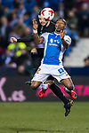 Claudio Beauvue (R) of CD Leganes fights for the ball with Nacho Fernandez of Real Madrid during the Copa del Rey 2017-18 match between CD Leganes and Real Madrid at Estadio Municipal Butarque on 18 January 2018 in Leganes, Spain. Photo by Diego Gonzalez / Power Sport Images