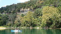 NWA Democrat-Gazette/FLIP PUTTHOFF<br />Nichols fishes a deep pool Sept. 15 2017 on Little Sugar Creek.