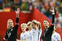 MONTREAL, CANADA, 30.06.2015 - EUA-ALEMANHA - Hope Solo goleira dos Estados Unidos durante partida contra Alemanha, válida pelas semi-finais da Copa do Mundo de Futebol Feminino, no Estádio Olímpico de Montreal, no Canadá, nesta sexta-feira, 30. (Foto: William Volcov/Brazil Photo Press)