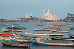 Vizhinjam ,fishing , port ,harbor ,  state of Kerala, near,  Kovalam beach,Mosque, Vizhinjam fishing port,india,