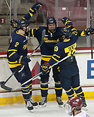 Ryan Cook (Merrimack - 2), Sami Tavernier (Merrimack - 25), Brett Seney (Merrimack - 13) - The visiting Merrimack College Warriors defeated the Boston College Eagles 6 - 3 (EN) on Friday, February 10, 2017, at Kelley Rink in Conte Forum in Chestnut Hill, Massachusetts.