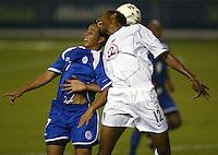 Cory Gibbs battles for a ball in San Salvador, El Salvador, Saturday Oct. 9, 2004. USA won 2-0. ..