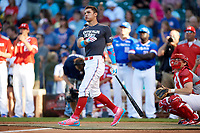 Elijah Cabell (99) of TNXL Academy in Winter Park, Florida during the Home Run Derby before the Under Armour All-American Game presented by Baseball Factory on July 29, 2017 at Wrigley Field in Chicago, Illinois.  (Mike Janes/Four Seam Images)