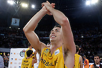 Herbalife Gran Canaria's Ryan Toolson celebrates the victory after Spanish Basketball King's Cup match.February 07,2013. (ALTERPHOTOS/Acero) /NortePhoto