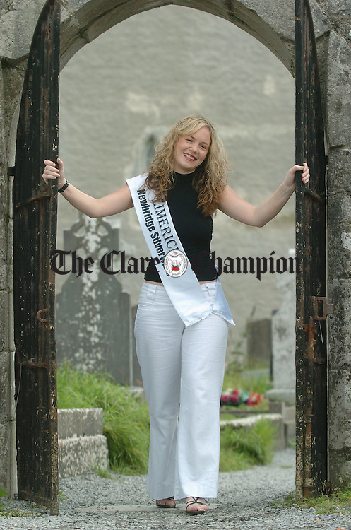 The Limerick and Mid-West Rose of Tralee contestant Yvonne Nagle takes time out in her native Kilfenora. Photograph by John Kelly.
