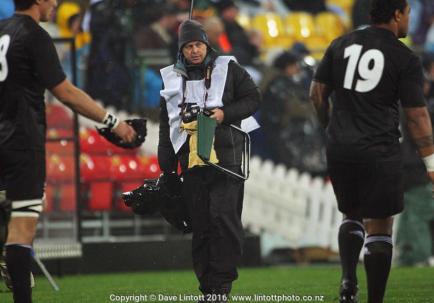 Photosport photographer Andrew Cornaga. Philips Tri Nations, All Blacks vs South Africa at Westpac Stadium, Wellington, New Zealand, Saturday 5 July 2008. Photo: Dave Lintott / lintottphoto.co.nz