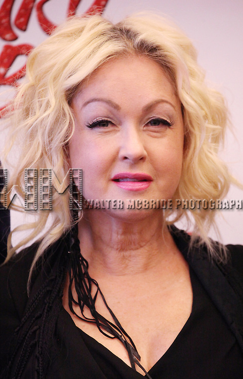 Cyndi Lauper attending the Meet & Greet the Cast & Creative Team of the New Broadway Musical 'Kinky Boots' at the New 42nd Street Studios in New York City on September 14, 2012.