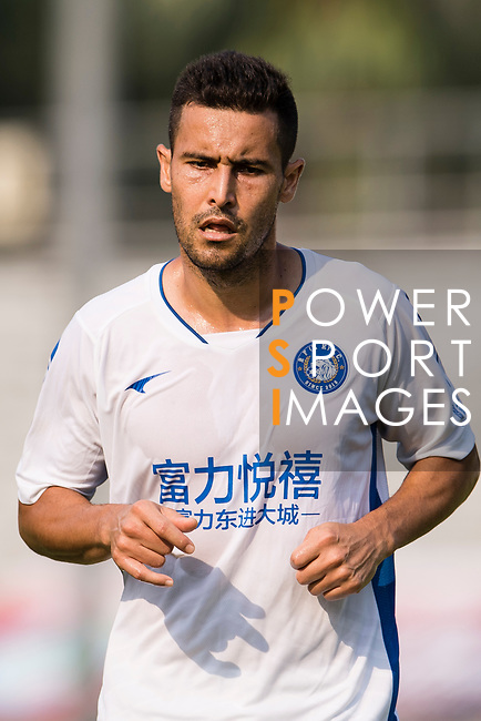 Giovane Alves of R&F F.C in action during the week three Premier League match between Kwoon Chung Southern and R&F at Aberdeen Sports Ground on September 16, 2017 in Hong Kong, China. Photo by Marcio Rodrigo Machado / Power Sport Images