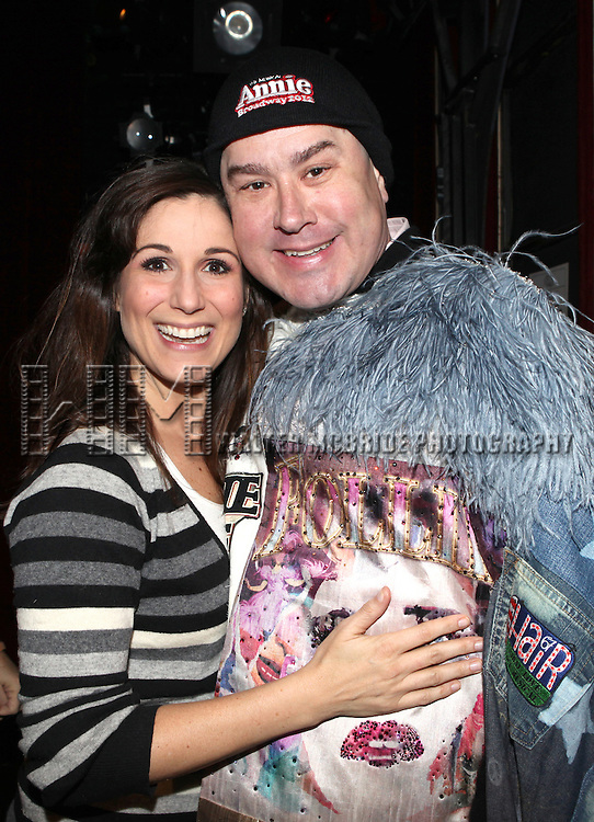 Stephanie J. Block & Merwin Foard (recepient for 'Annie') attending the Opening Night Performance Gypsy Robe Ceremony celebrating Eric Sciotto receiving for 'The Mystery of Edwin Drood' at Studio 54 in New York City on 11/13/2012