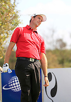 Ben Collier (SCO) on the 3rd tee during Round 2 of the KLM Open at Kennemer Golf &amp; Country Club on Friday 12th September 2014.<br /> Picture:  Thos Caffrey / www.golffile.ie