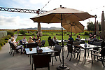 An outdoor tasting area overlooks the vineyard at Tolosa Winery and Vineyards in San Luis Obispo, California December 2-, 2014.