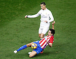 Atletico de Madrid's Stefan Savic (r) and Real Madrid's Cristiano Ronaldo during La Liga match. November 19,2016. (ALTERPHOTOS/Acero)
