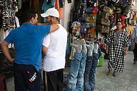 Tripoli, Libya - Clothing Store, Shopping Arcade, Jeans, Levis, Men Talking