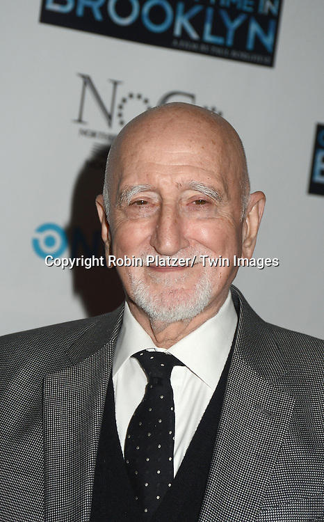 "Dominic Chianese attends the New York Premiere of ""Once Upon A Time in Brooklyn""  on April 29, 2013 at AMC Empire Theaters in New York City. The movie stars William DeMeo, Armand Assante, Lorraine Ziff, Vincent Pastore, Vinny Vella, Tony Darrow, Samantha Ivers. Lola Jimoh and Ice-T."