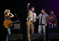 13 April 2018 - Las Vegas, Nevada -  Midland, Cameron Duddy, Mark Wystrach, Jess Carson, Rhett Akins.  ACM Party For A Cause ACM Stories, Songs &amp; Stars at The Joint inside The Hard Rock Hotel and Casino.   <br /> CAP/ADM/MJT<br /> &copy; MJT/ADM/Capital Pictures