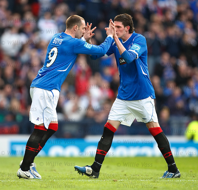 Kris Boyd comes on to replace Kyle Lafferty