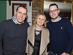 Paul and Eleanor Scanlon and Paul Sheerin pictured at the Emmett Lynch Memorial Cup presentation night in Daly's Donore. Photo:Colin Bell/pressphotos.ie