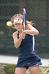 April 25, 2014; San Diego, CA, USA; Pepperdine Waves player Michaela Capannolo during the WCC Tennis Championships at Barnes Tennis Center.