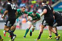 James Ryan of Ireland U20 takes on the New Zealand defence. World Rugby U20 Championship match between New Zealand U20 and Ireland U20 on June 11, 2016 at the Manchester City Academy Stadium in Manchester, England. Photo by: Patrick Khachfe / Onside Images
