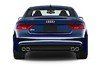 Straight rear view of a 2015 Audi S5 4.2 quattro Tiptronic Premium Plus Coupe 2 Door Coupe Rear View  stock images