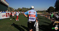 Andy Sullivan (ENG) attempts a full-on drive to the 17th but goes left into the sand during the Final Round of the 2016 Omega Dubai Desert Classic, played on the Emirates Golf Club, Dubai, United Arab Emirates.  07/02/2016. Picture: Golffile | David Lloyd<br /> <br /> All photos usage must carry mandatory copyright credit (&copy; Golffile | David Lloyd)