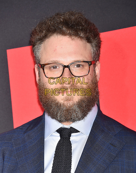 WESTWOOD, CA - APRIL 03: Producer Seth Rogen arrives at the Universal Pictures' 'Blockers' Premiere at Regency Village Theatre on April 3, 2018 in Westwood, California.<br /> CAP/ROT/TM<br /> &copy;TM/ROT/Capital Pictures