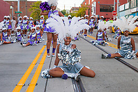 Doll's and Gents Drill Team & Drum Line, Chinatown Seafair Parade 2016, Seattle, WA, USA.