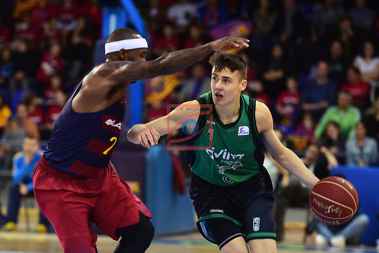 League ACB-ENDESA 2016/2017 - Game: 13.<br /> FC Barcelona Lassa vs Divina seguros Joventut: 79-77.<br /> Tyrese Rice vs Dimitrijevic.