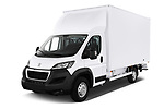 2019 Peugeot Boxer - 2 Door Parcel Van Angular Front stock photos of front three quarter view