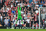Jamal Blackman of Sheffield Utd collects the ball during the championship match at St Andrews Stadium, Birmingham. Picture date 21st April 2018. Picture credit should read: Simon Bellis/Sportimage