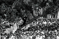 Pix:Michael Steele/SWpix...International Cricket. Pakistan v England, Rawalpindi, 1987...COPYRIGHT PICTURE>>SIMON WILKINSON..Pakistan v England, Rawalpindi.