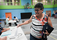 NWA Democrat-Gazette/CHARLIE KAIJO Maria Cisneros-Doss of Bentonville completes her forms to get a flu shot during a free flu vaccine clinic, Friday, October 5, 2018 at the Rogers Community Center in Rogers.<br /><br />The Benton County Health Unit of the Arkansas Department of Health (ADH) will offer free flu vaccinations at the Rogers Activity Center, 315 W. Olive, Rogers, AR., from 8:00 a.m. to 4:00 p.m. Friday. <br /><br />&Ograve;We want Benton County residents to stay healthy this flu season, and getting a yearly flu vaccination is the best line of defense,&Oacute; Loy Bailey, Benton County Health Unit Administrator, said. &Ograve;We encourage everyone to come to the mass clinic or the local health unit to get their flu shot.&Oacute;