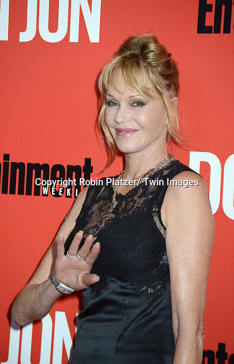 """Melanie Griffith attends the """"Don Jon"""" New York Movie Premiere on September 12, 2013 at the SVA Theatre in New York City."""