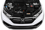 Car Stock 2020 Honda CR-V LX 5 Door SUV Engine  high angle detail view