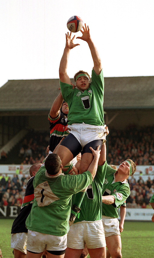 Photo: Ken Brown.14.2.98 Leicester v London Irish.Nick Harvey.