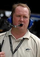 May 4, 2007; Richmond, VA, USA; Derrick Finley crew chief for Nascar Nextel Cup Series driver Dale Jarrett (44) during practice for the Jim Stewart 400 at Richmond International Raceway. Mandatory Credit: Mark J. Rebilas