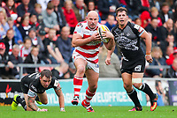 Picture by Alex Whitehead/SWpix.com - 30/09/2017 - Rugby League - Betfred Super League Million Pound Game - Leigh Centurions v Catalans Dragons - Leigh Sports Village, Leigh , England - Leigh's Glenn Stewart makes a break.