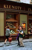 an der Karlova Ecke Husova, Prag, Tschechien, Unesco-Weltkulturerbe.
