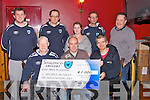 "CHEQUE: A cheque of ?1,000 from members of Athletico Scooer Club, Ardfert, was presented to Maurice McGaley as he was the ""Last Man Standing"" in McElligotts Bar, Ardfert on Wednesday night, Front l-r: Cianán Ferris, maurice McGaley and Paudie O'Sullivan. back l-r: Pa Donegan, Tony Neary, Nicole McGaley,Daniel Dowling and John McElligott."
